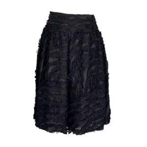 Rickie Freeman Teri Jon Black Ruffle Party Skirt